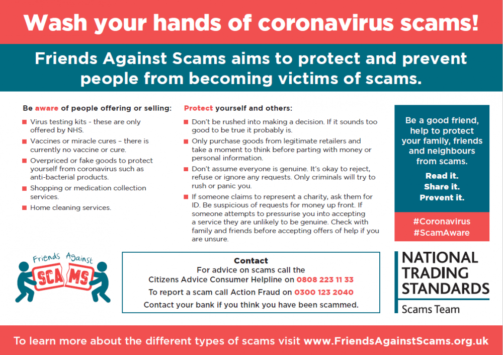 Beware Of Covid 19 Scams National Trading Standards